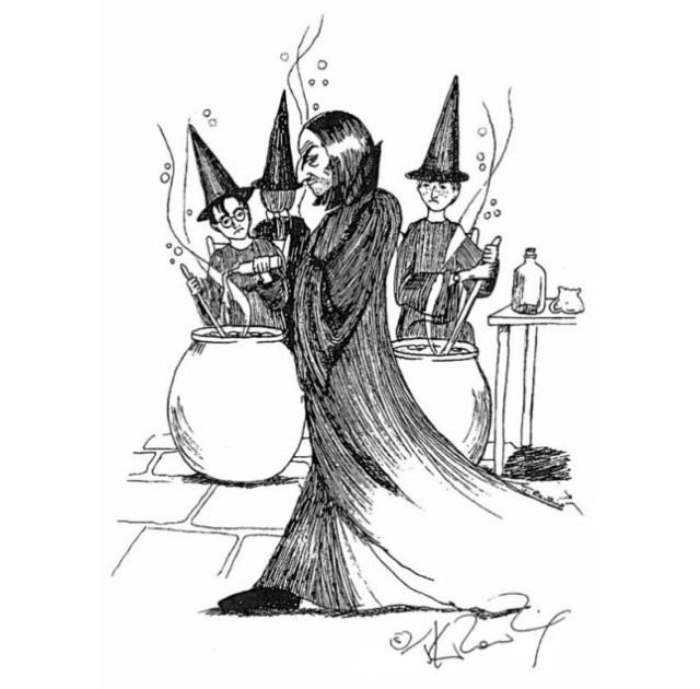 Северус Снейп рисунки подборка (3)