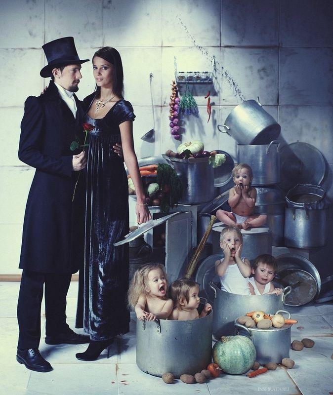 Фотосессия в стиле семейки Аддамс (3)