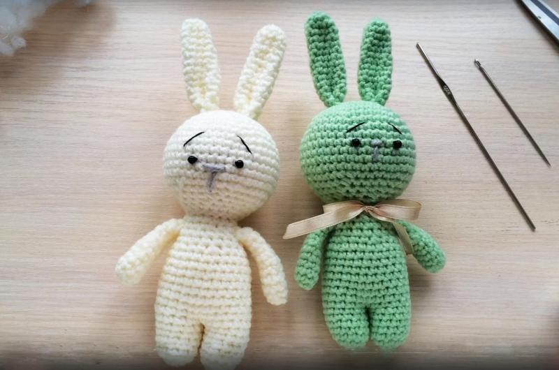 Фото как связать кролика крючком (1)