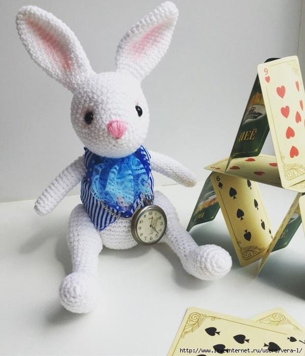 Фото как связать кролика крючком (2)
