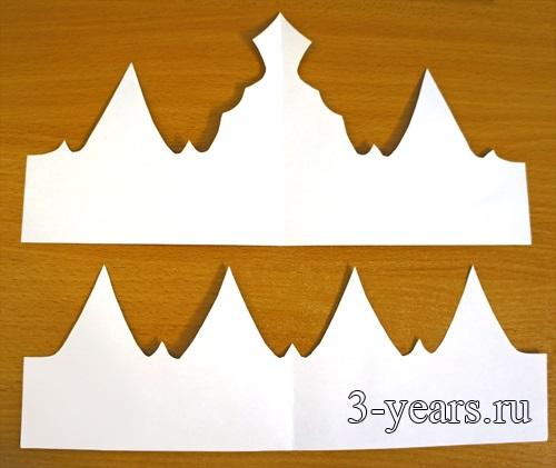 Фото макет короны из бумаги (10)