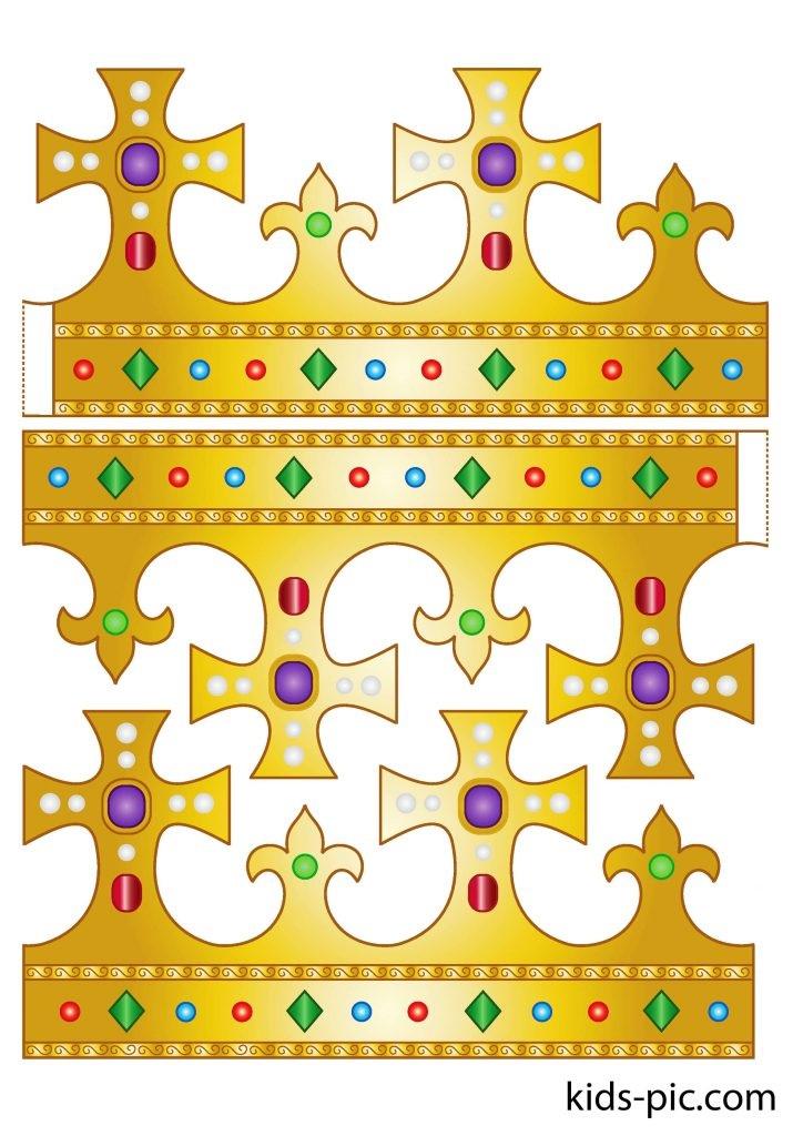 Фото макет короны из бумаги (16)