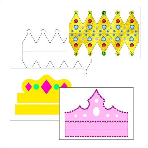 Фото макет короны из бумаги (4)