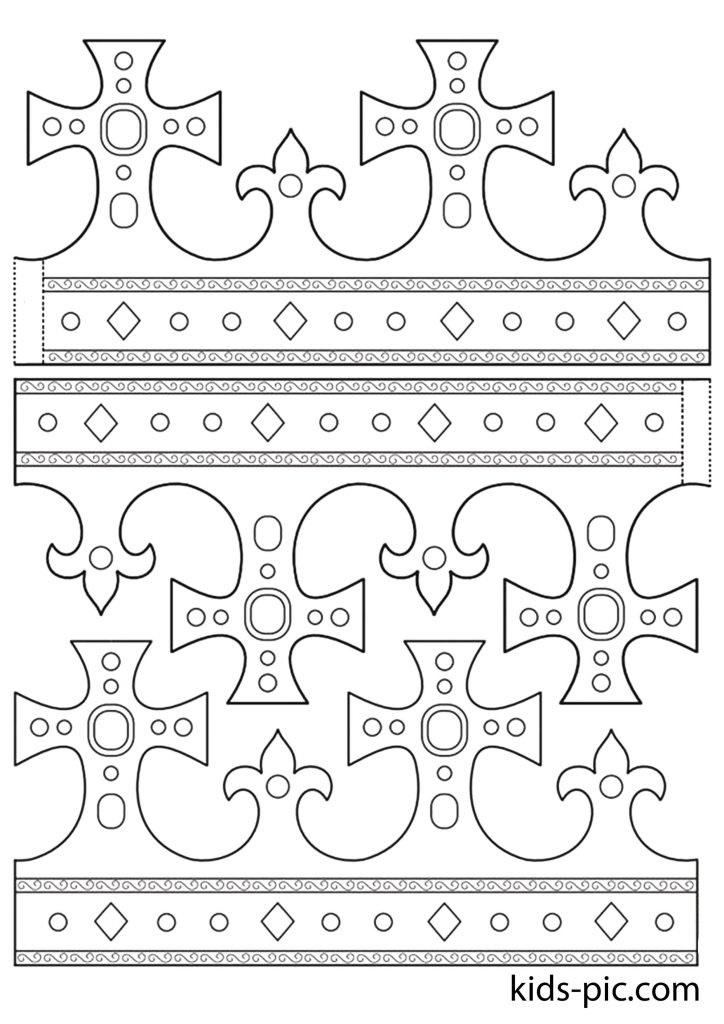 Фото макет короны из бумаги (9)