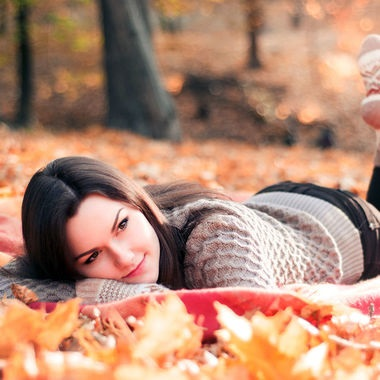 Фото осени девушка и плед (20)