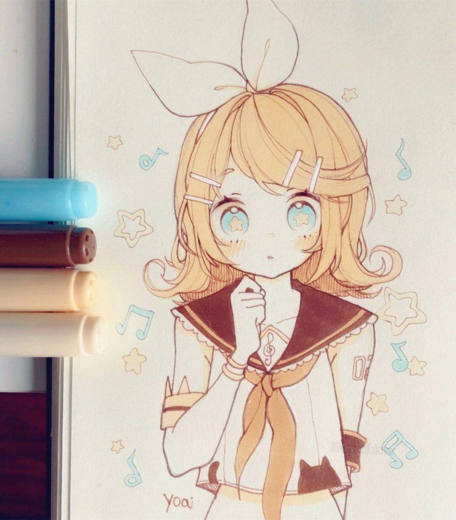 Картинки для срисовки kawaii (10)