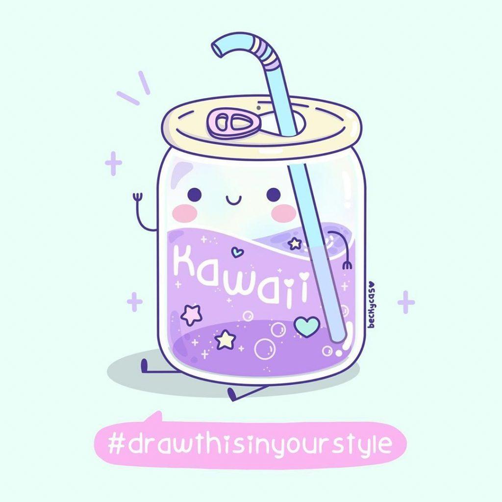 Картинки для срисовки kawaii (23)