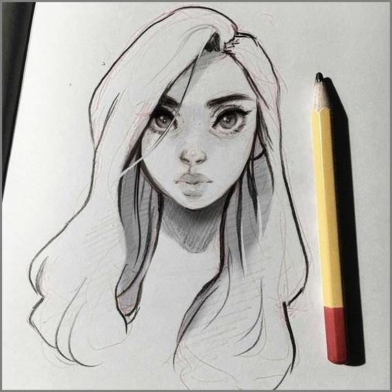Картинки для срисовки девушки в шортах (17)