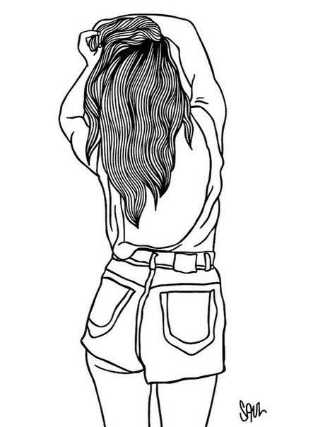 Картинки для срисовки девушки в шортах (18)