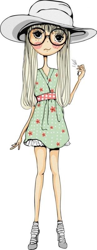 Картинки для срисовки девушки в шортах (21)