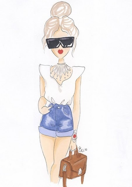 Картинки для срисовки девушки в шортах (6)