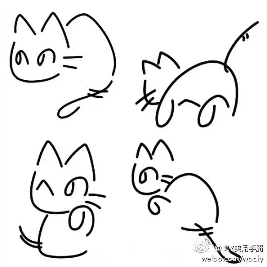 Картинки для срисовки котята милые (14)