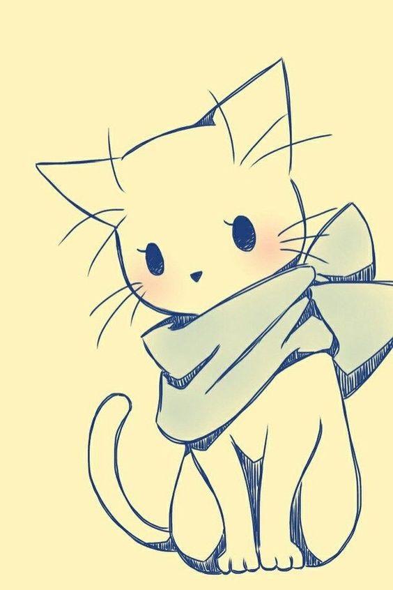 Картинки для срисовки котята милые (15)