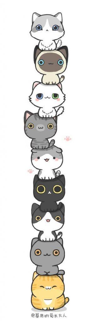 Картинки для срисовки котята милые (19)