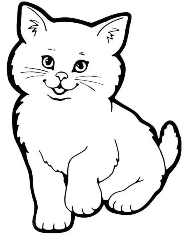 Картинки для срисовки котята милые (20)