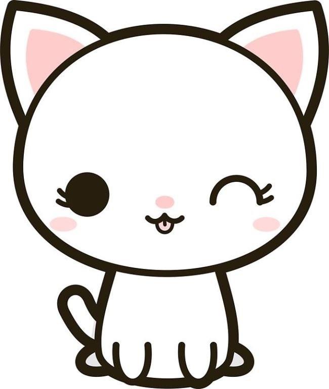 Картинки для срисовки котята милые (22)