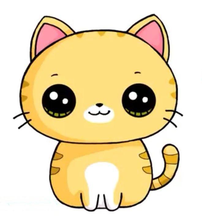 Картинки для срисовки котята милые (24)