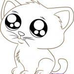Картинки для срисовки котята милые