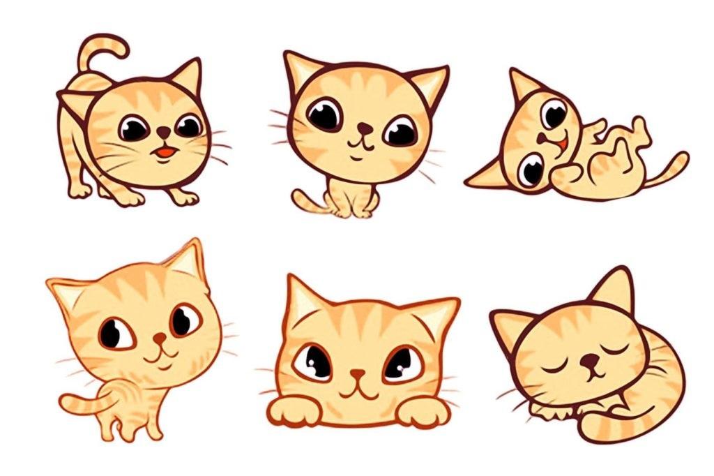 Картинки для срисовки котята милые (9)