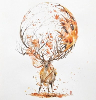 Картинки олень для срисовки (1)