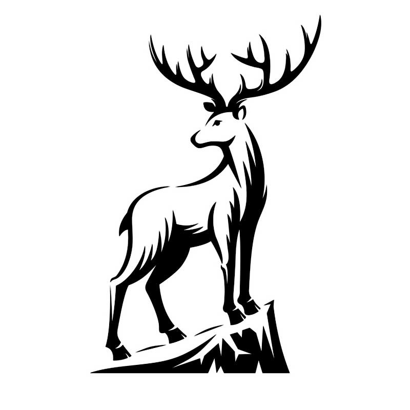 Картинки олень для срисовки (10)