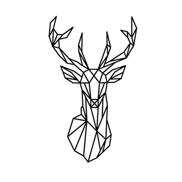 Картинки олень для срисовки (12)