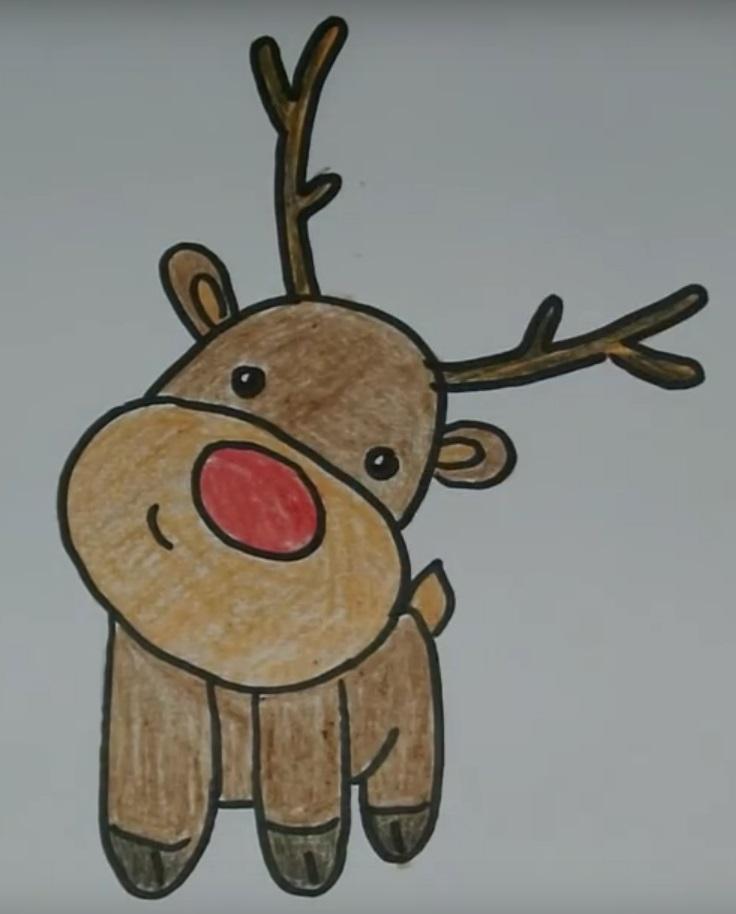 Картинки олень для срисовки (15)