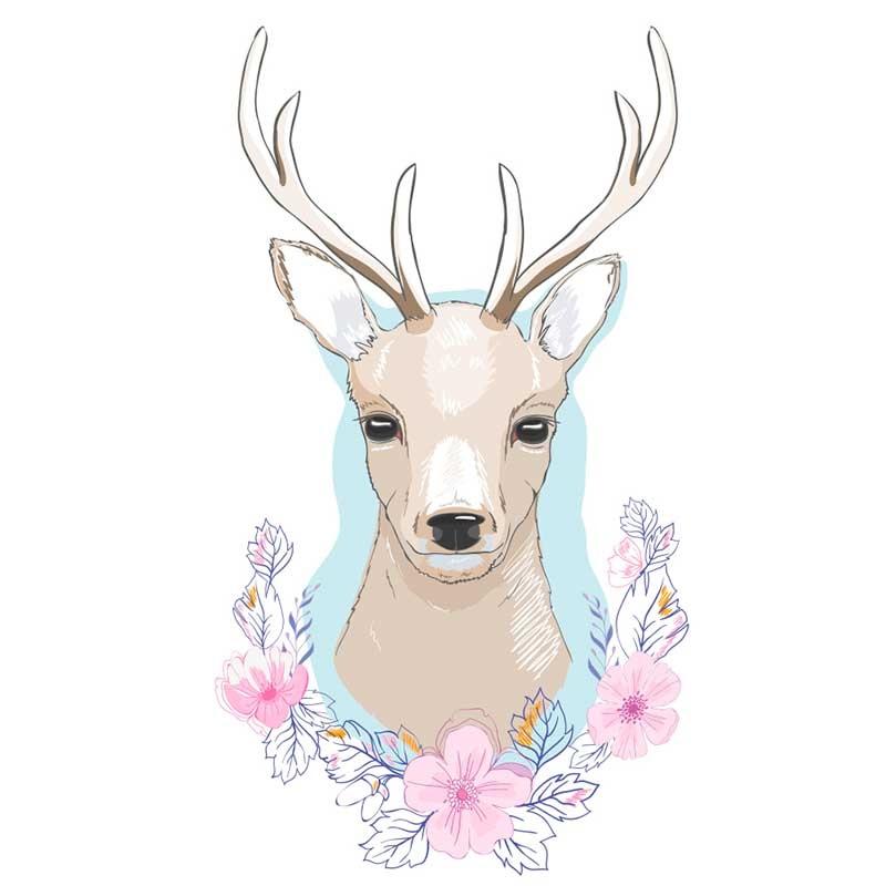Картинки олень для срисовки (17)