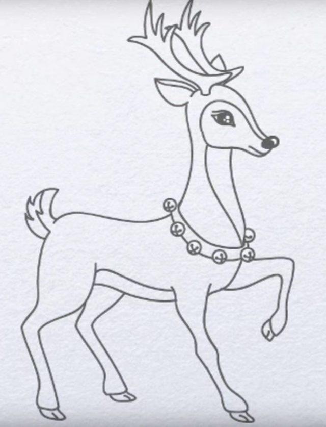 Картинки олень для срисовки (2)