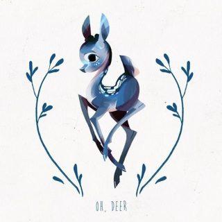 Картинки олень для срисовки (20)