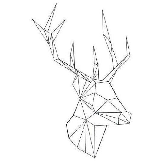 Картинки олень для срисовки (25)