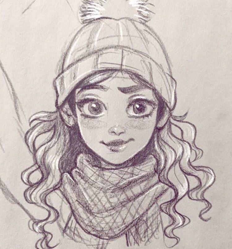 Рисунки карандашом для срисовки для начинающих людей (12)