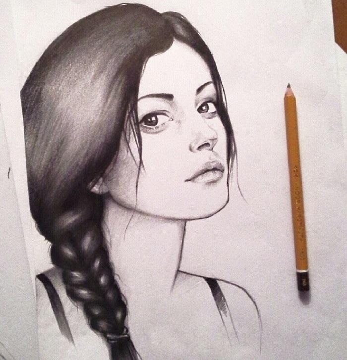 Рисунки карандашом для срисовки для начинающих людей (23)