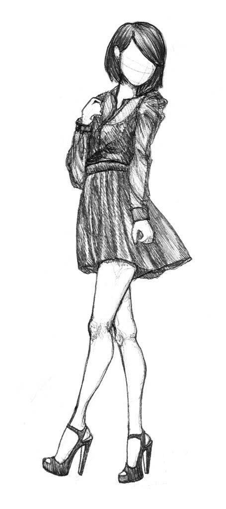 Рисунки карандашом для срисовки для начинающих людей (26)