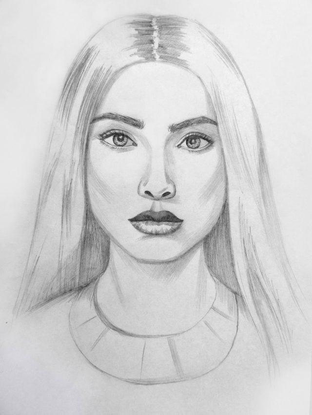 Рисунки карандашом для срисовки для начинающих людей (5)