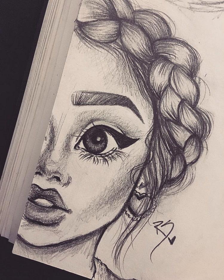 Рисунки карандашом для срисовки для начинающих людей (9)