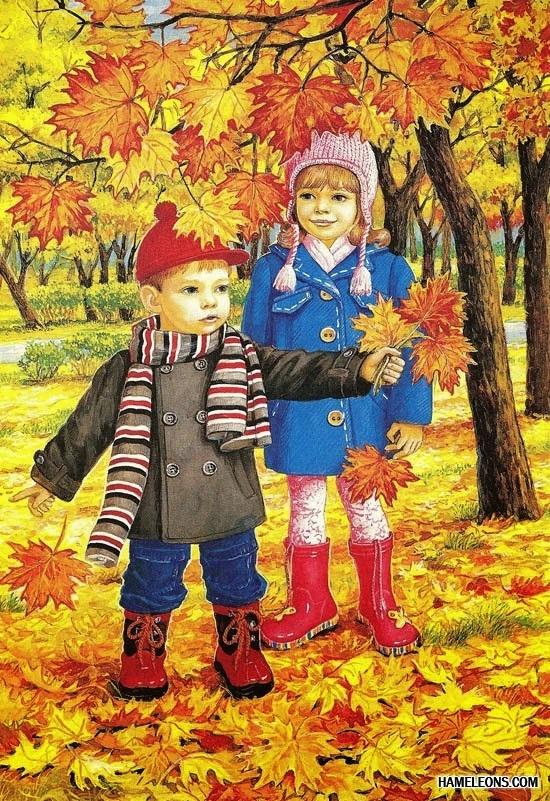 Осень в лесу красивые картинки для детей и родителей (14)