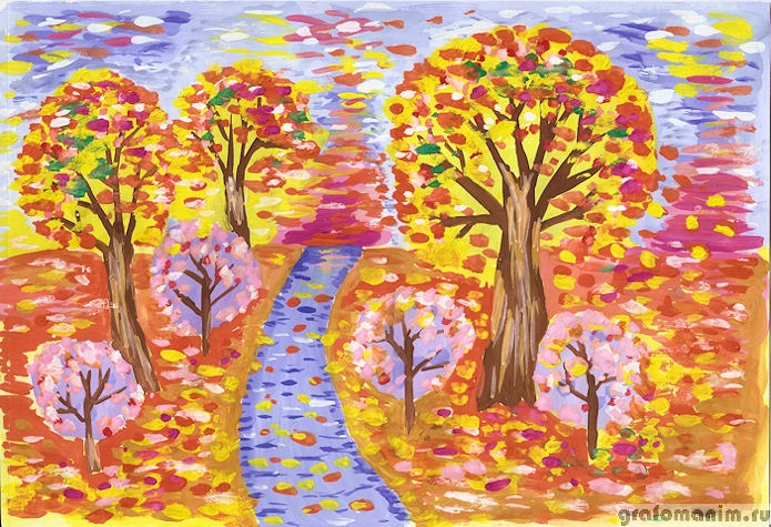 Осень в лесу красивые картинки для детей и родителей (17)