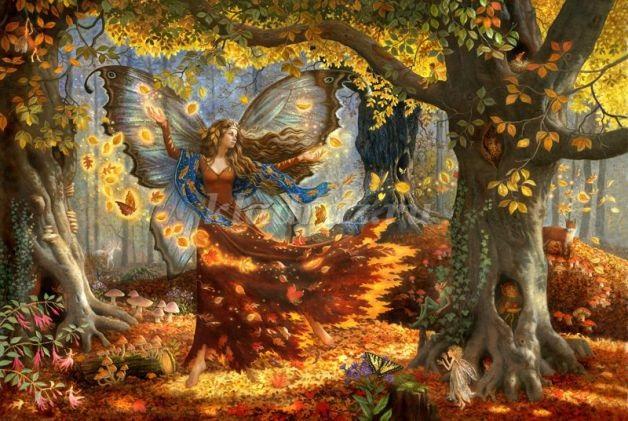 Осень в лесу красивые картинки для детей и родителей (2)