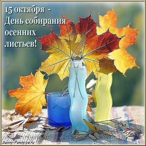 Открытки на День собирания осенних листьев 15 октября (3)
