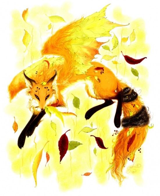 Открытки на День собирания осенних листьев 15 октября (8)