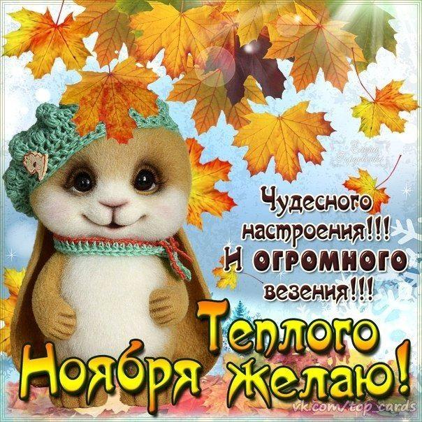 Доброе утро для друзей в ноябрь - подборка открыток (25)
