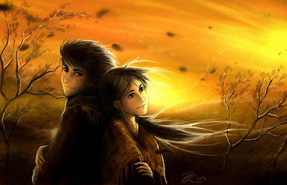 Картинки девушка и парень спиной друг к другу (16)