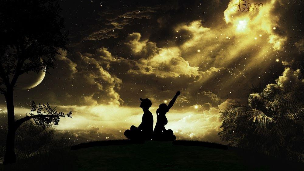 Картинки девушка и парень спиной друг к другу (17)