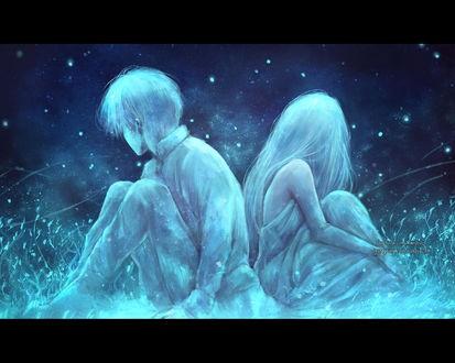 Картинки девушка и парень спиной друг к другу (8)