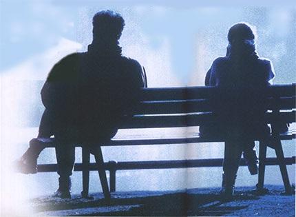 Картинки девушка и парень спиной друг к другу (9)