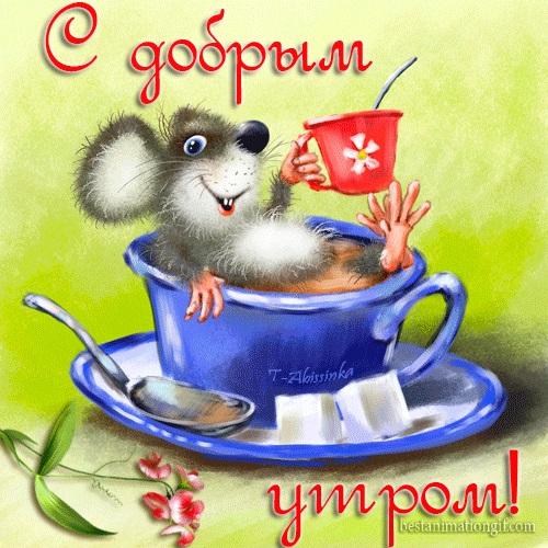 Мышка доброе утро красивые открытки с пожеланиями (7)