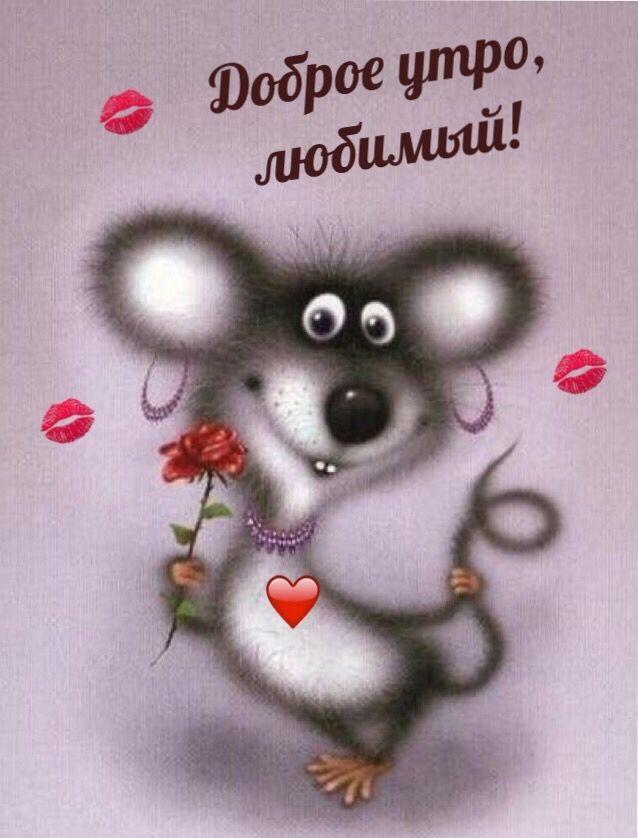 Мышка доброе утро красивые открытки с пожеланиями (8)