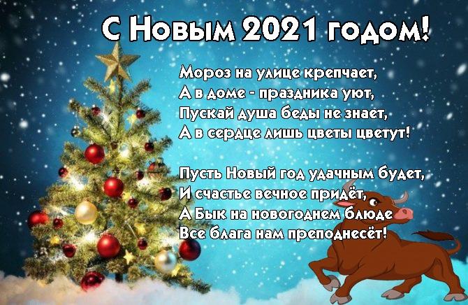 Красивые стихи на Новый Год 2021 Быка - сборка (15)