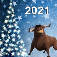 Новогодние обои быка на 2021 год   подборка картинок (5)